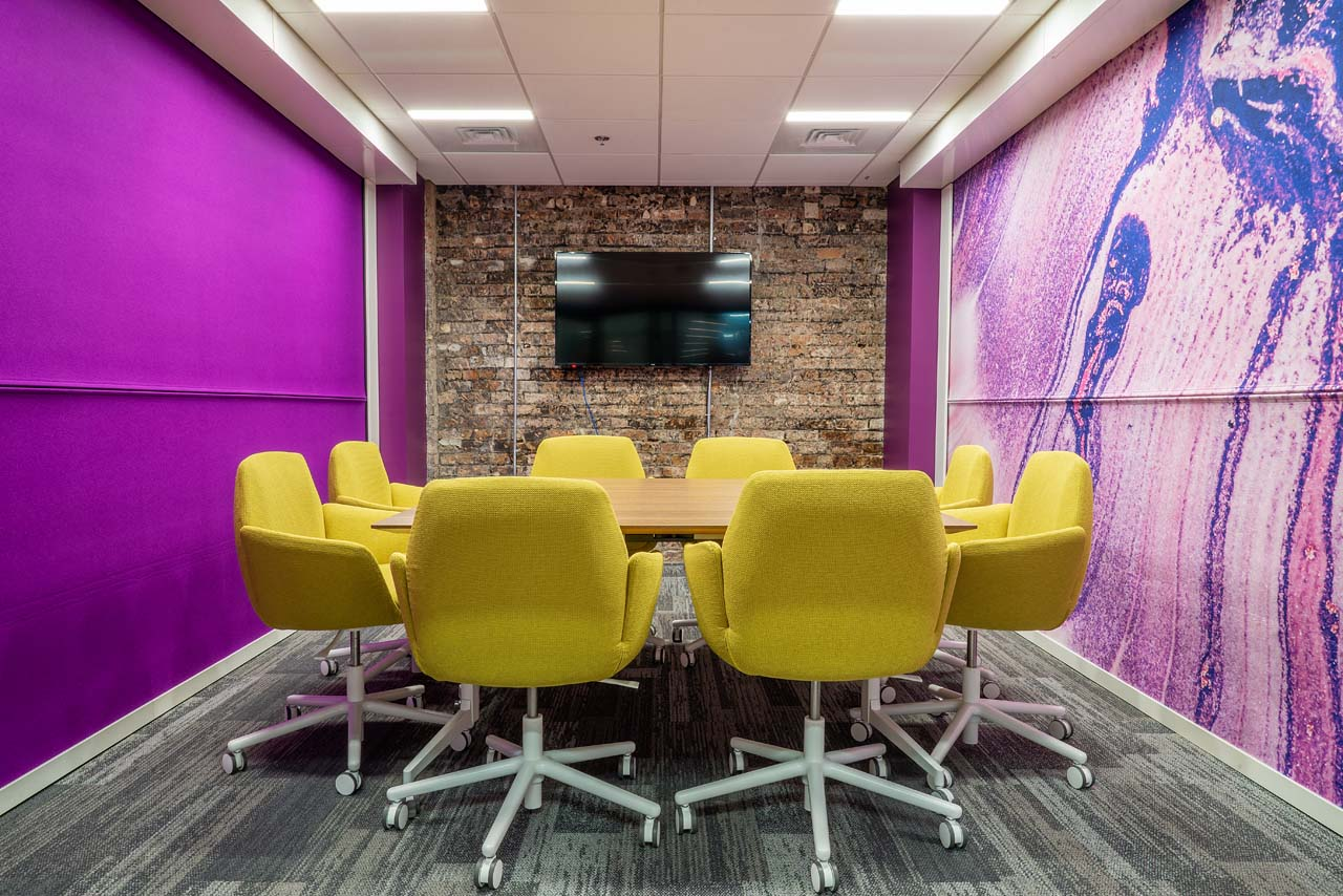 A small conference room for 8 people